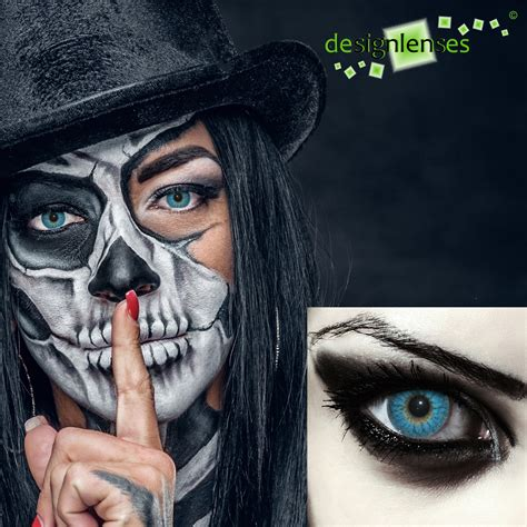 Spooky Trend Colored Contacts by Blue Colored Costume Contacts Scary Blue Eye