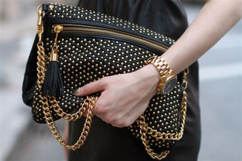 Studded Clutch Rock N Roll touch of tassel living well 7