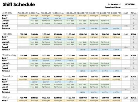 free shift schedule template the 25 best ideas about schedule templates on