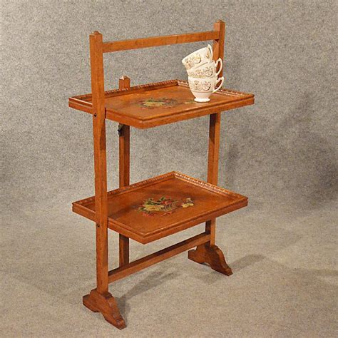 antique buffet tables antique oak serving tea table folding butlers buffet cake stand edwardian c1910 346187