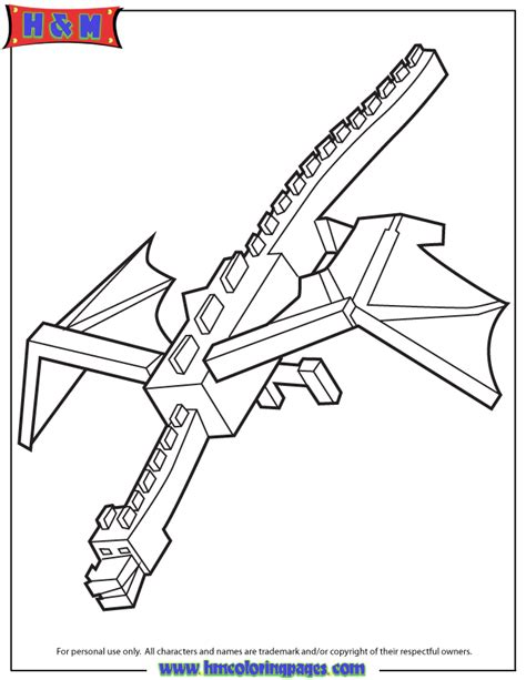 Coloring Pages Of Ender Dragon | cool ender dragon coloring page h m coloring pages