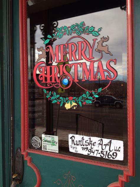 merry christmas window splash runtske art christmas window painting christmas shop displays