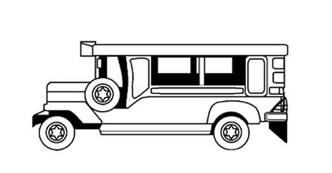 jeepney philippines drawing free coloring page philippine jeepney hints