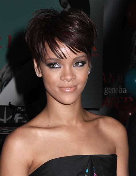 celebrity rihanna short hairstyle pictures prom hairstyles