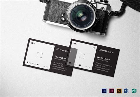 photographer business card template illustrator plastic photographer business card template in psd word