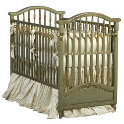 Gretels Antique Spindle Crib In Versailles Green Finish Vintage Cribs For Babies
