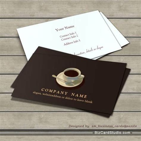 Coffee Business Card Template Free by Business Card Templates Studio Coffee Cup Business Card