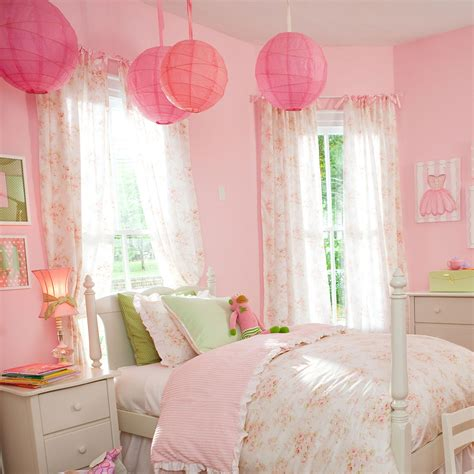 Shabby Chic Nursery Curtains Pink Floral Drape Panel Carousel Designs