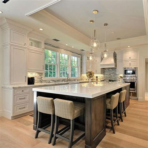 large kitchen island table best 25 large kitchen design ideas on