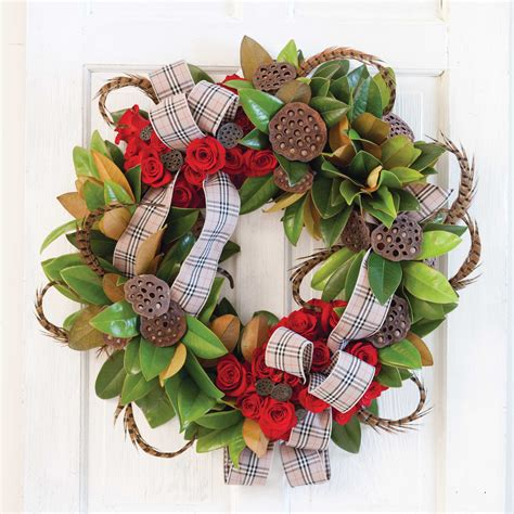 hot house design magnolia wreaths with hothouse design southern lady magazine