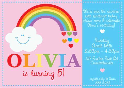 rainbow invitation card template rainbow invitations theruntime
