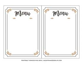 menu template free printable free printable thanksgiving menu mountainmodernlife
