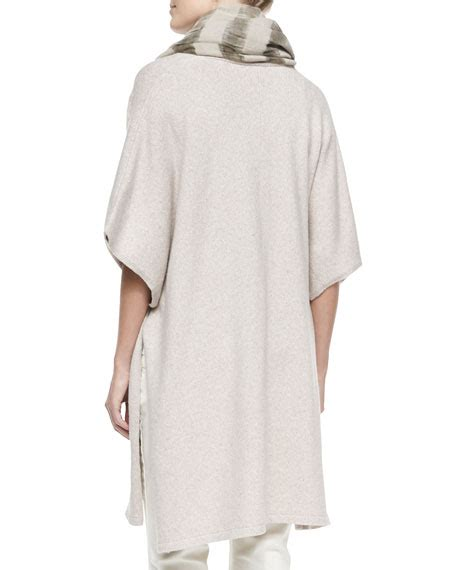 comfort cape eileen fisher comfort cotton blend kimono cape maple oat