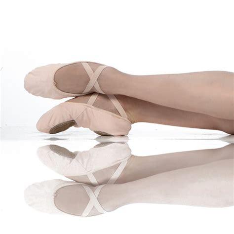 wear moi canvas split sole ballet shoe