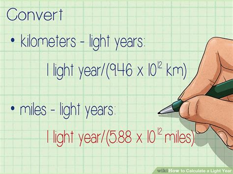 how to calculate a light year 10 steps with pictures
