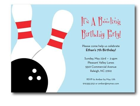Bowling Birthday Card Template bowling invitations templates free free printable