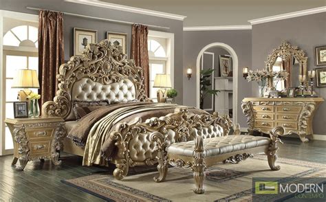 Lumisource Desk Luxury European Style Bedroom Set