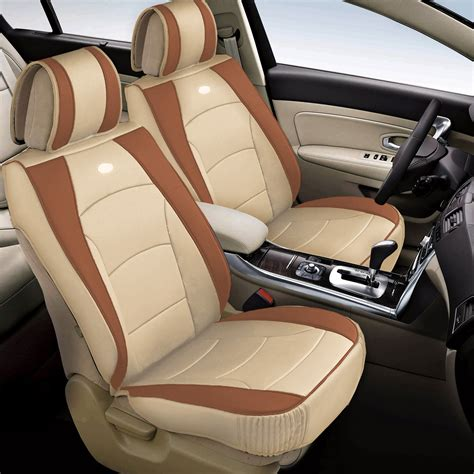 car suv pu leather seat cushion covers front buckets 5