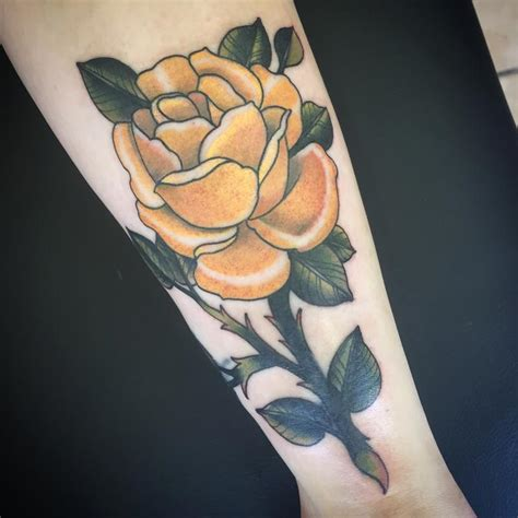 yellow rose tattoo shop yellow by jerrett querubin tattoonow