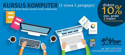 Lesprivate Komputer Excel Dst kursus privat komputer di denpasar bali balitop