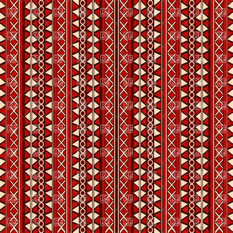 tribal pattern vector free download tribal design seamless pattern in red tones vector image