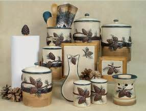 Kitchen Utensil Canister Piece Pine Cone Canister Set Quotes
