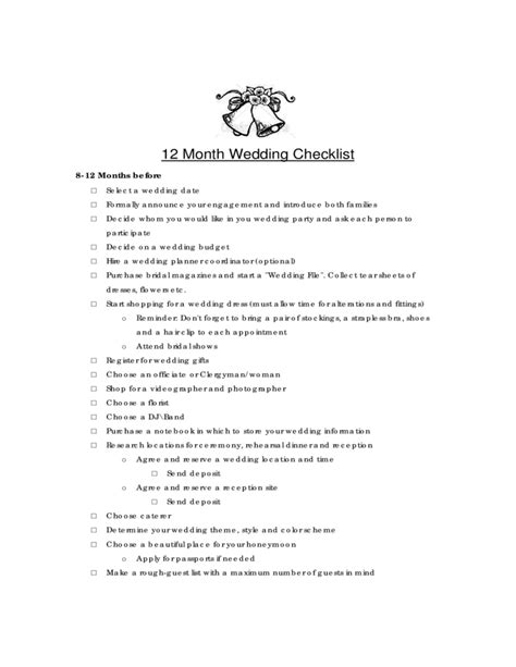 Wedding Checklist A Z by Wedding Checklist Template Nipissing Free