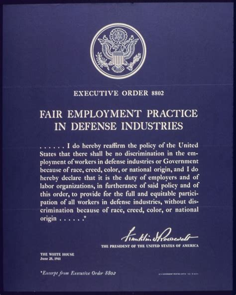 Executive Order executive order 8802