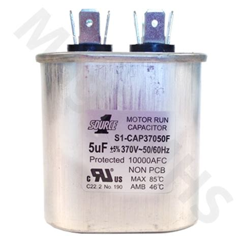 run capacitor what is it motor run capacitor 5uf 370v