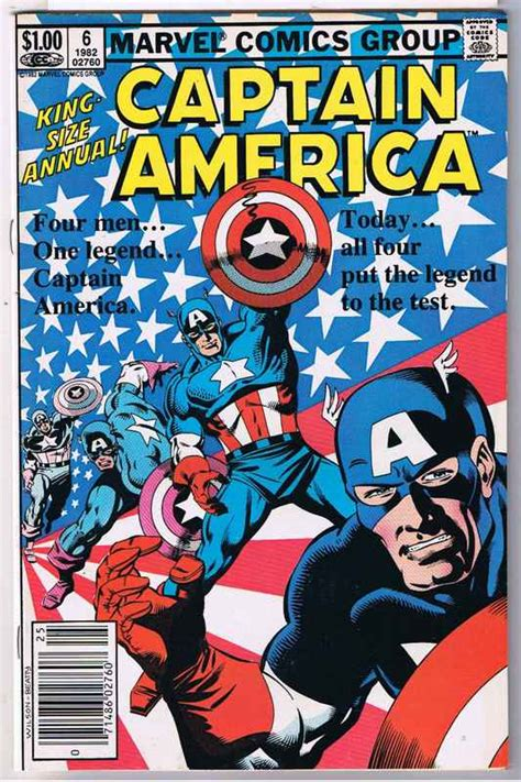 Captain America Comic Book captain america comic annual 6 4 49 comic megastore