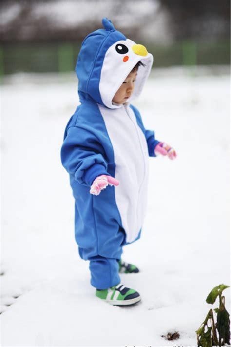 blue penguin baby animal onesie 4kigurumi