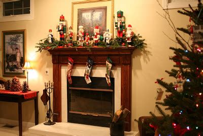 image of christmas mantle with nutcracker unfussy fussiness nutcracker mantel