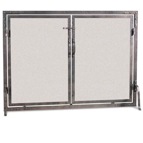 world flat fireplace screen with doors 42 quot w x 31 quot h