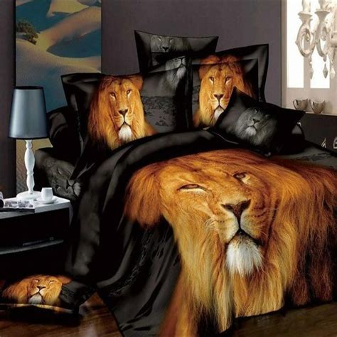lion comforter set wolf bed set lupo bedding 140 tiger wolf lion leopard 4