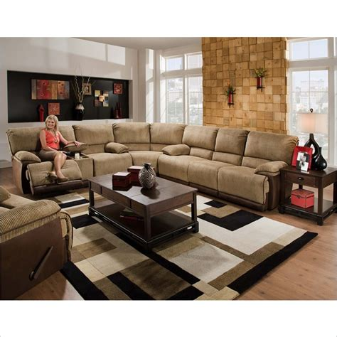 catnapper clayton 3 sectional sofa in camel and