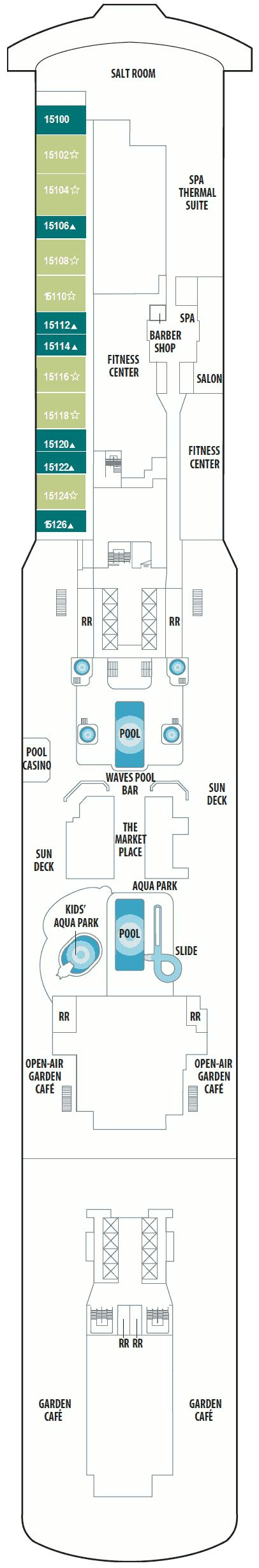 norwegian getaway floor plan norwegian getaway deck plans