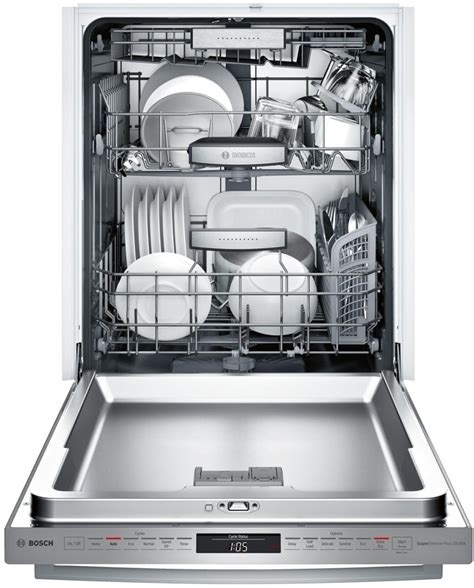 dishwasher home bosch shxm98w75n fully integrated dishwasher with myway