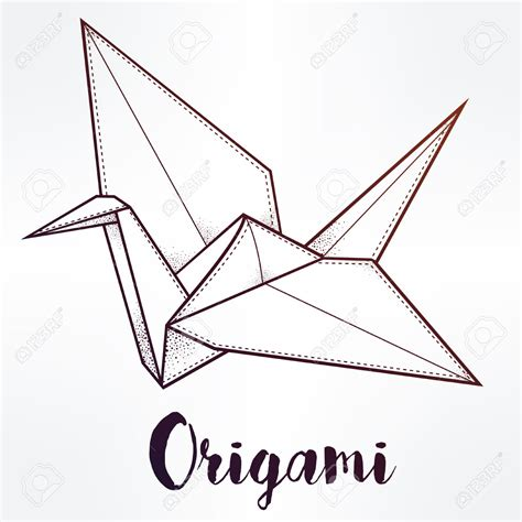 Origami Bird Drawing - origami best origami cranes ideas on origami paper crane