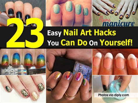 easy nail art designs you can do yourself 23 easy nail art hacks you can do on yourself