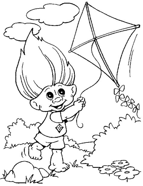 Troll Coloring Pages For Kids Coloringpagesabc Com Coloring Pages Trolls