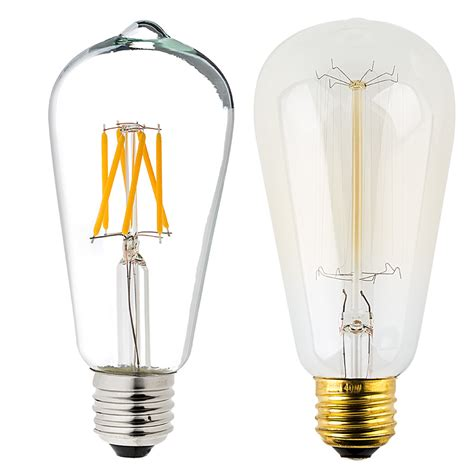 Led Light Bulb Ratings St18 Led Filament Bulb 40 Watt Equivalent Vintage Light Bulb Dimmable 537 Lumens Vintage