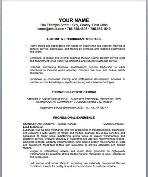 boat mechanic resume