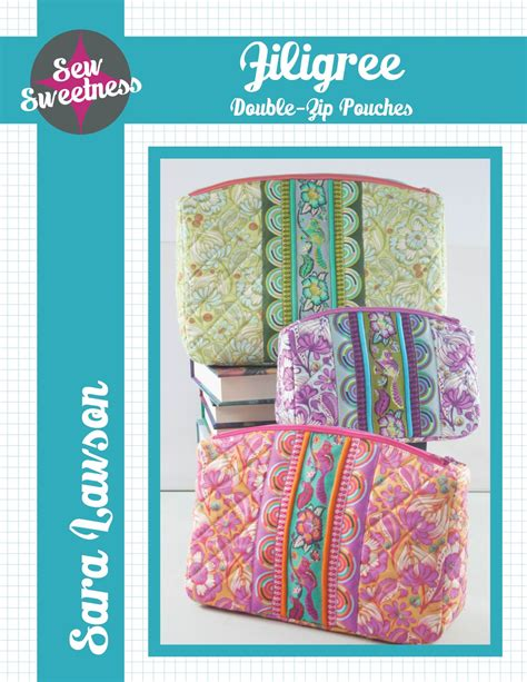 zip code pattern html sew sweetness filigree double zip pouches