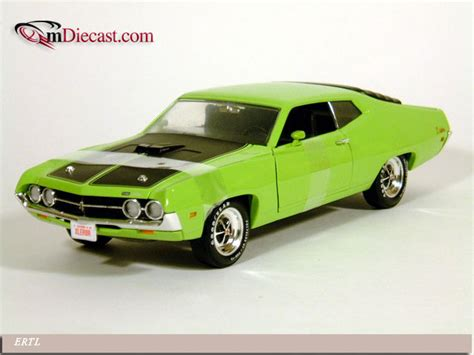 Ertl 1 18 Amm992 1971 Ford Torino Cobra Light Green Diecast Model Ca ertl 1971 torino cobra lime 36383 in 1 18 scale mdiecast