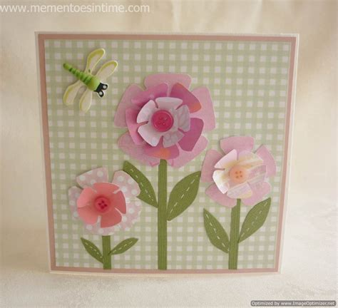 flower card template flower templates mementoes in time