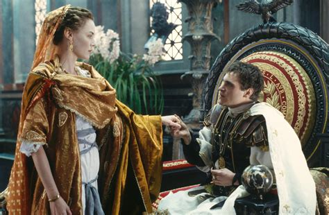 gladiator film history pin still of connie nielsen and joaquin phoenix in