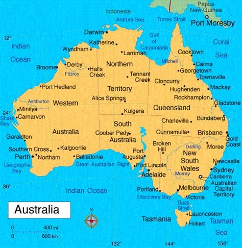 australia map cities australia map geography pictures map of australia region