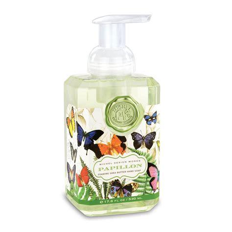 michel design works luxury foaming hand bath body soap lotions uk papillon foaming hand soap