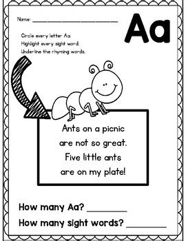 Letter A Poem Freebie From Alphabet Letter Poem Pack By Amy Ginn Letter Poem Template