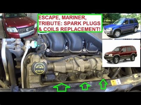 mazda tribute 2002 similar upper intake manifold replacement ifixit 2002 ford escape intake manifold gaskets upper lower spark plugs makeup guides